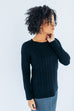 Cable Knit Sweater in Black