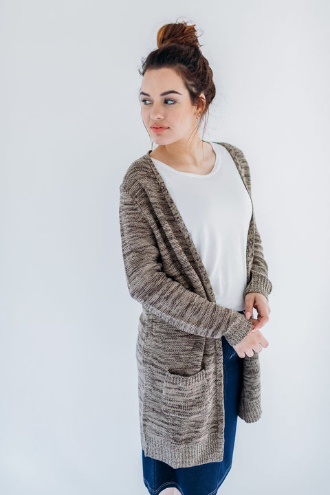 Two Toned Mocha Cardigan