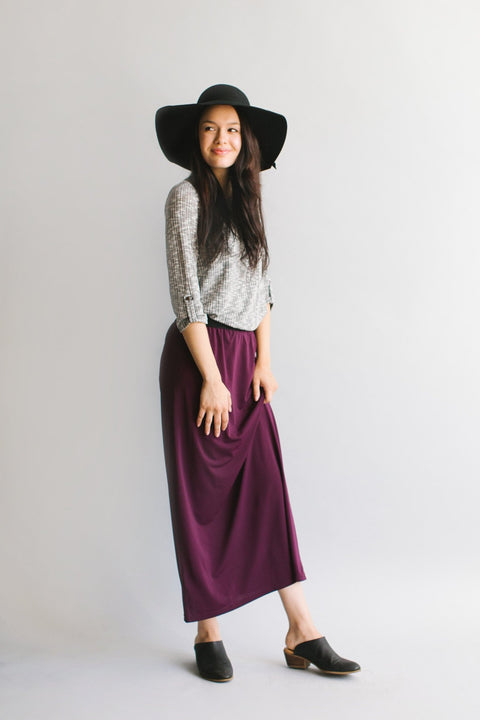'Claire' Skirt in Mulberry