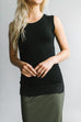 Modest Lace Trimmed Layering Tank Top