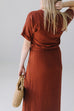 'Saray' Maxi Dress in Rust