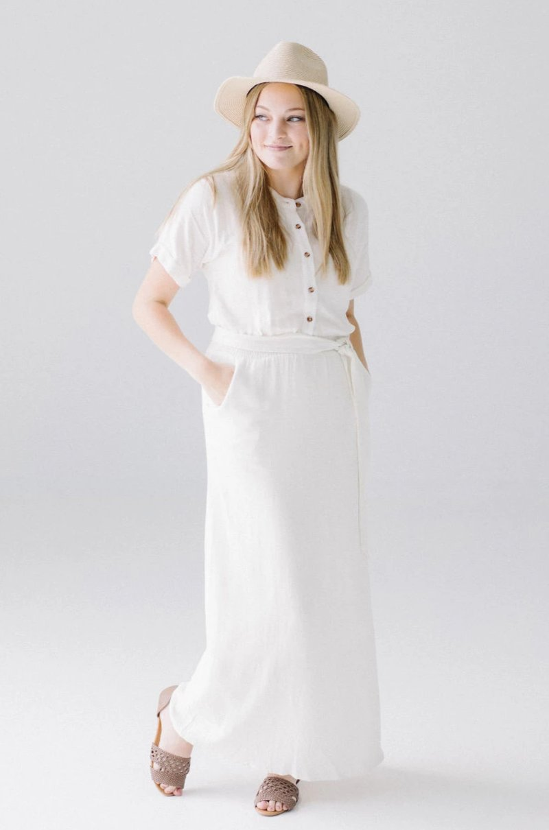 'Saray' Maxi Dress in Vanilla