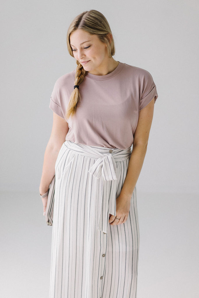 Loose Tee in Mauve