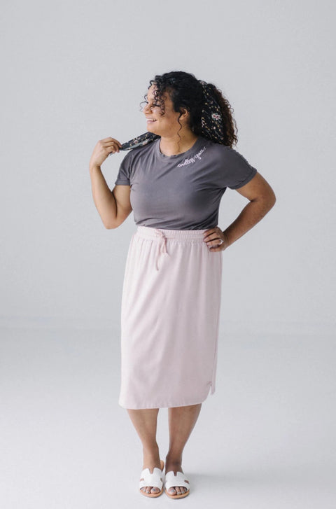 'Olivia' Skirt in Pearl Blush