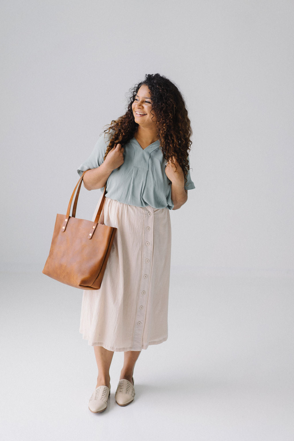 'Florence' Skirt in Natural