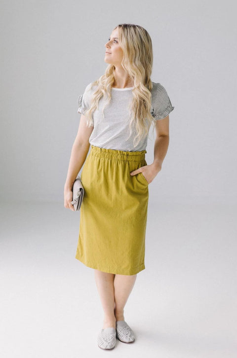 'Adele' Skirt in Avocado