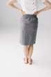 'Adele' Skirt in Iron Gray
