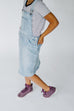 'Emerson' Girl Light Denim Skirt Overalls