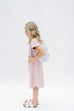 'Avonlea' Girl Dress in Mauve Stripes