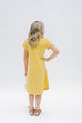 'Avonlea' Girl Dress in Yellow Stripes