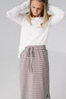 'Olivia' Skirt in Mocha with Cream Stripes
