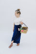 Girl Maxi Skirt in Navy