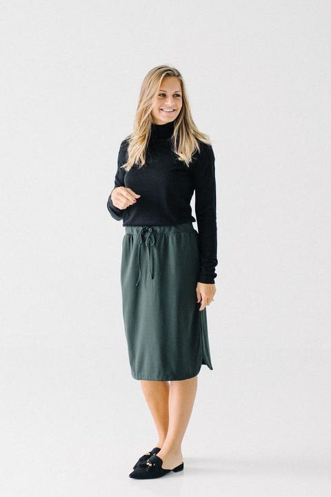 'Olivia' Skirt in Forest Green