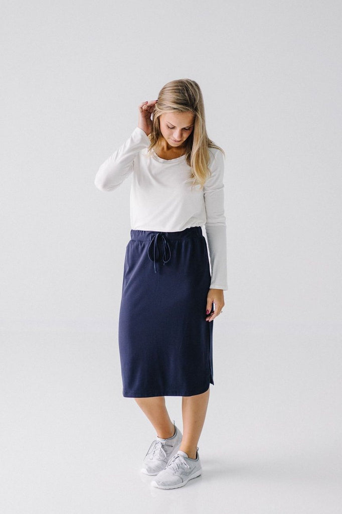 'Olivia' Skirt in Classic Navy