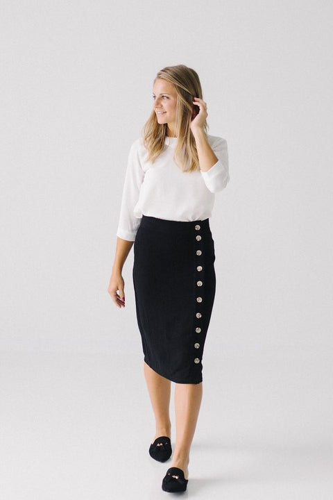 'Norah' Skirt in Black
