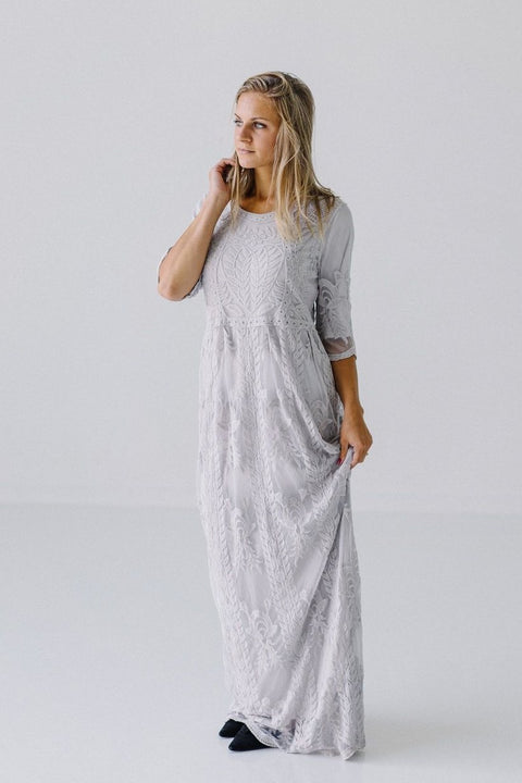 'Luna' Dress in Gray