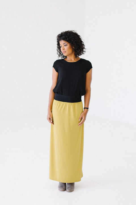 'Claire' Skirt in Goldenrod