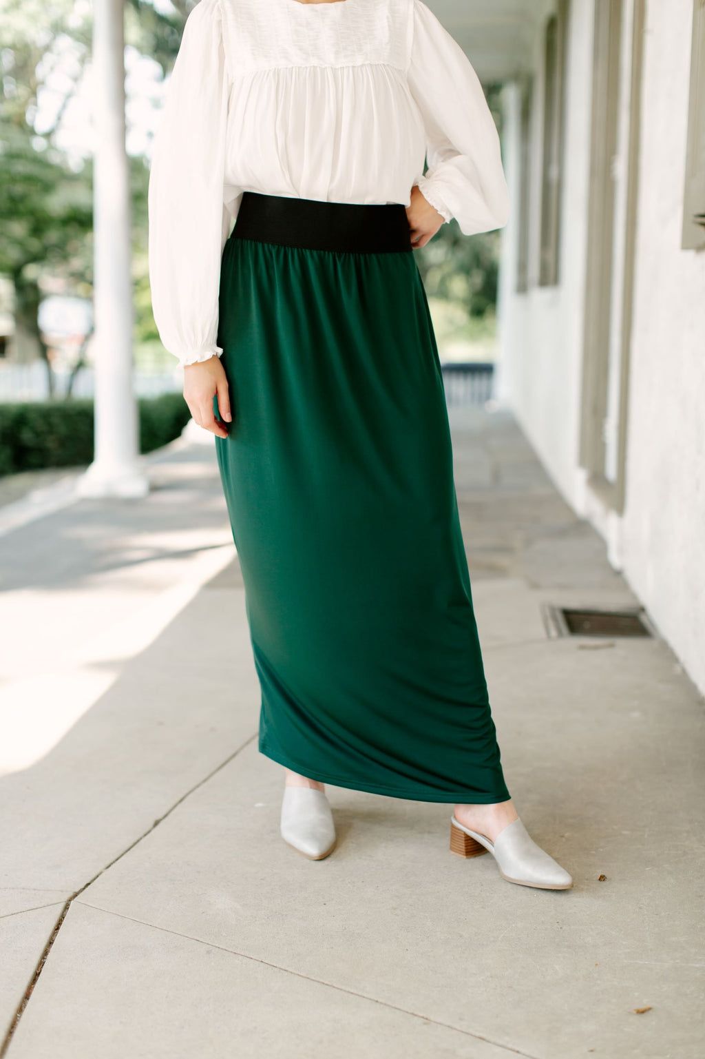 'Claire' Skirt in Forest Green