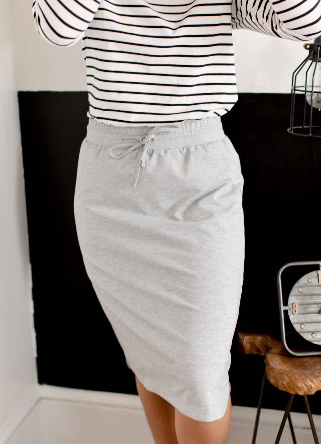 'Olivia' Skirt in Heather Gray