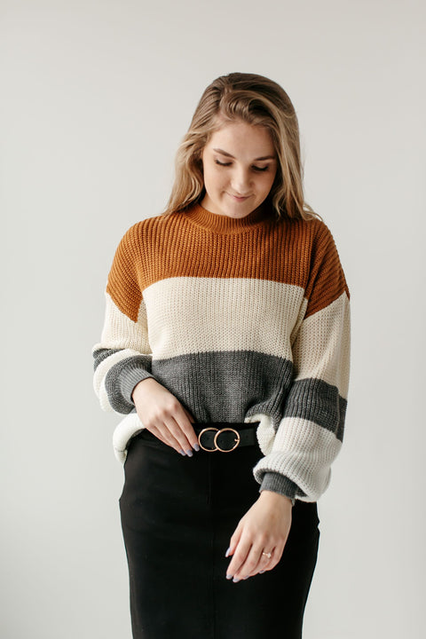 'Reese' Color Block Sweater