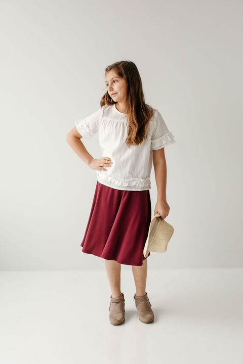 'Eva' Girl Skater Skirt (3 Colors)