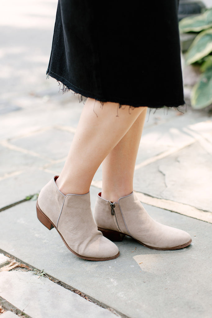 'Charlie' Ankle Boots in Taupe