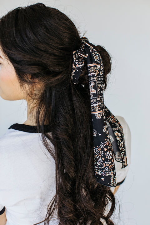 Hair Scrunchie/Neck Scarf in Black