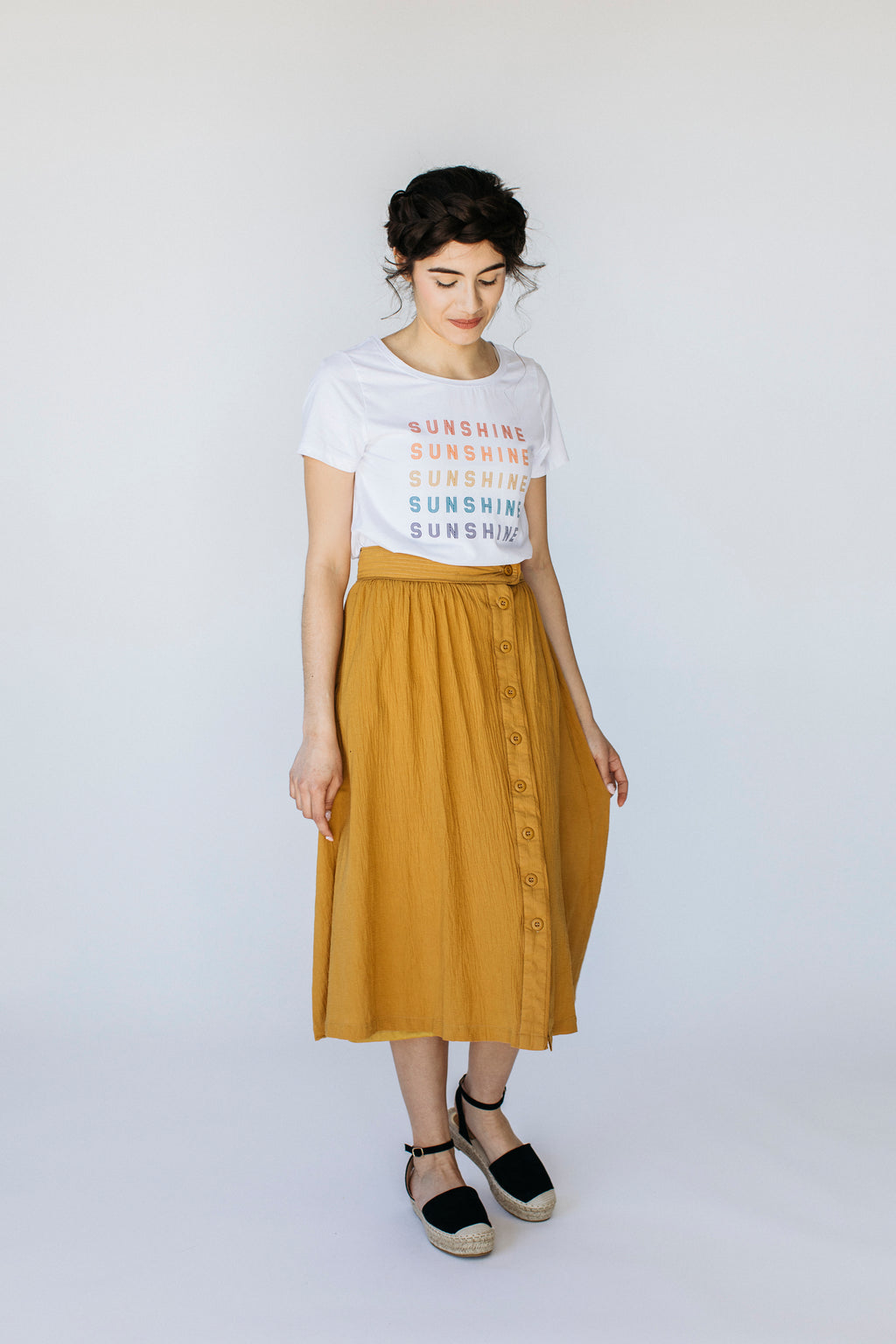 'Florence' Skirt in Mustard
