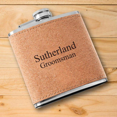 Personalized Groomsman Cork Flask
