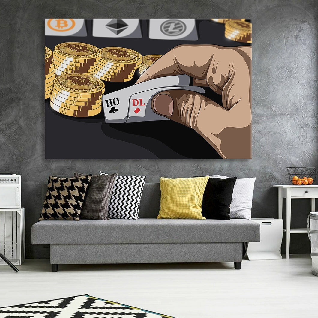 Bitcoin Poker Canvas