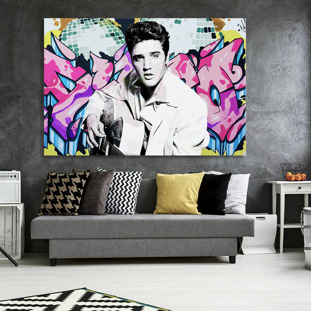 King Of Rock And Roll Canvas