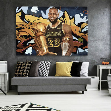 The Goat With Trophies Canvas