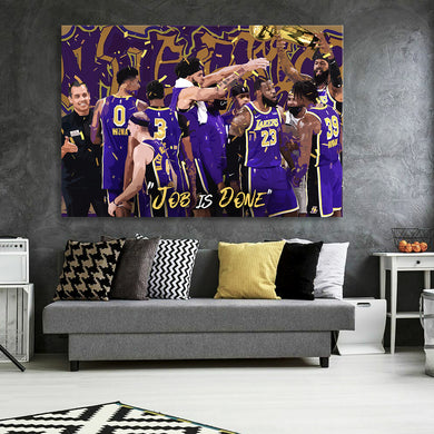 Job Is Done 2020 Champs Canvas
