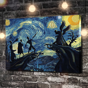 Starry Night: Deathly Hallows Canvas
