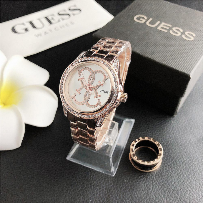 Rose Gold Classic Guess Steel Watch