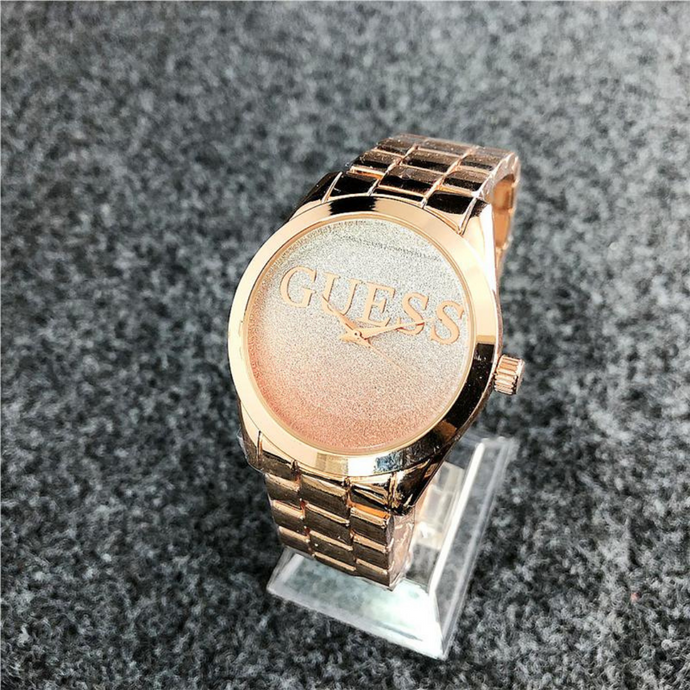 Rose Gold Vintage Guess Steel Watch