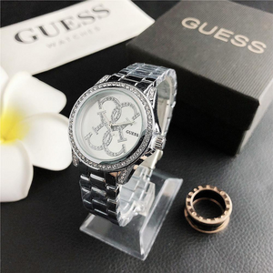 Silver Classic Guess Steel Watch