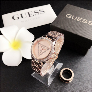 Rose Gold Crystal Guess Steel Watch