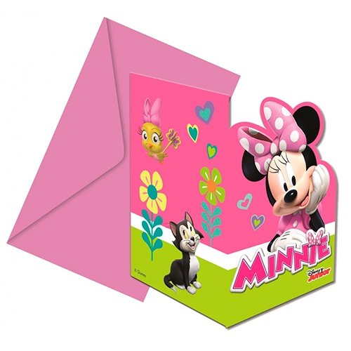 Disney Minnie Mouse invitationskort & kuvert - Kidzy.dk