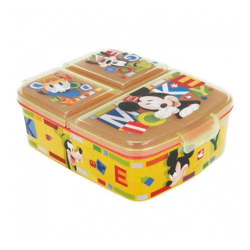 Mickey Mouse Madkasse med 3 rum - Kidzy.dk