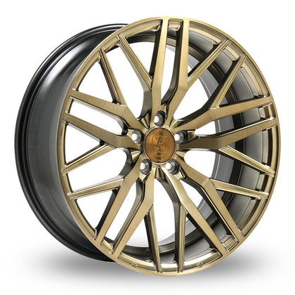 Axe EX30 Brushed Bronze Wider Rear 9x22 (Front) & 10.5x22 (Rear) Set of 4 alloy wheels - Premier Wheels UK Online