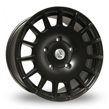 BK Racing 350 Matt Black  18 Inch Set of 4 alloy wheels