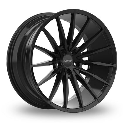 Inovit Torque Satin Black Wider Rear 8.5x20 (Front) & 10x20 (Rear) Set of 4 alloy wheels - Premier Wheels UK Online