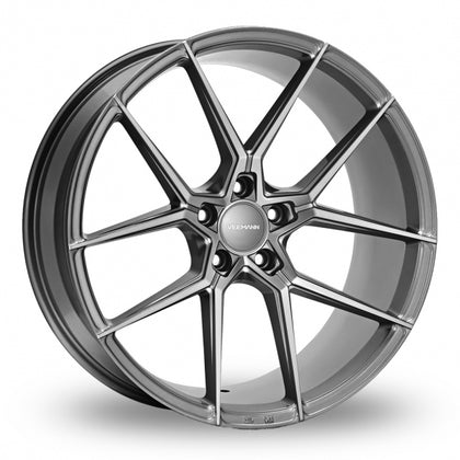 VEEMANN V-FS39 Graphite Wider Rear 8.5x19 (Front) & 9.5x19 (Rear) Set of 4 alloy wheels