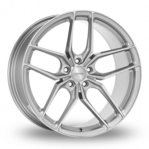VEEMANN VC03 Silver Polished Wider Rear 8.5x19 (Front) & 9.5x19 (Rear) Set of 4 alloy wheels