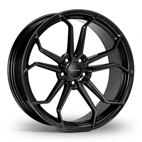 VEEMANN VC632 Gloss Black Wider Rear 20 Inch Set of 4 alloy wheels