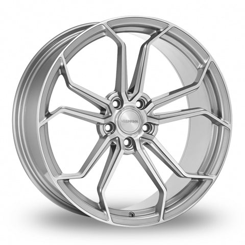 VEEMANN VC632 Silver Polished Wider Rear 20 Inch Set of 4 alloy wheels