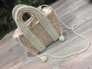Pearl Straw Tote