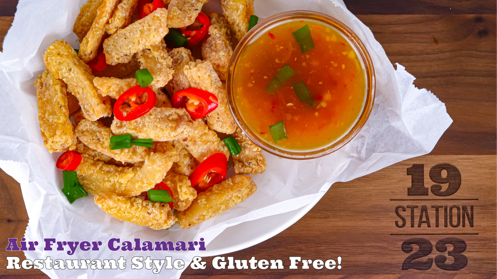 Restaurant Style Air Fried Calamari | Gluten Free PF Chang's Salt and Pepper Calamari Copycat Recipe
