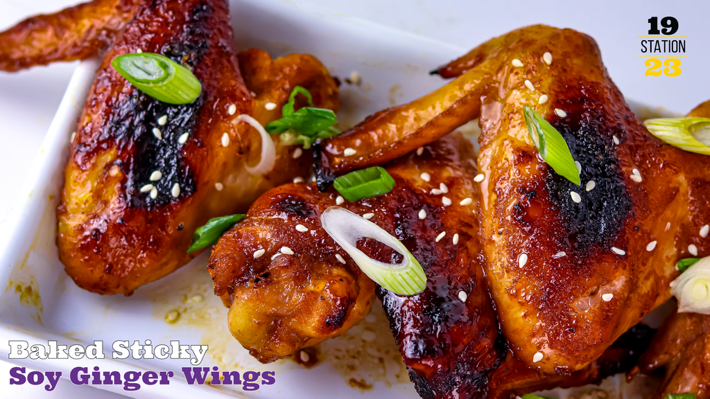 Baked Sticky Soy Ginger Wings Gluten Free